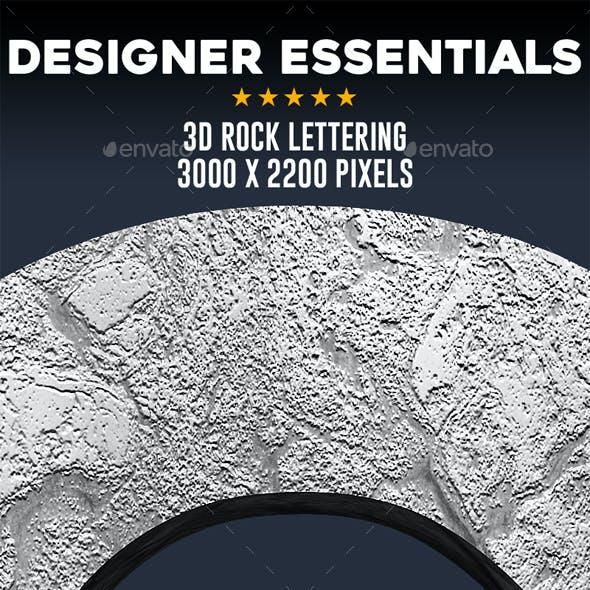 3D Rock Lettering