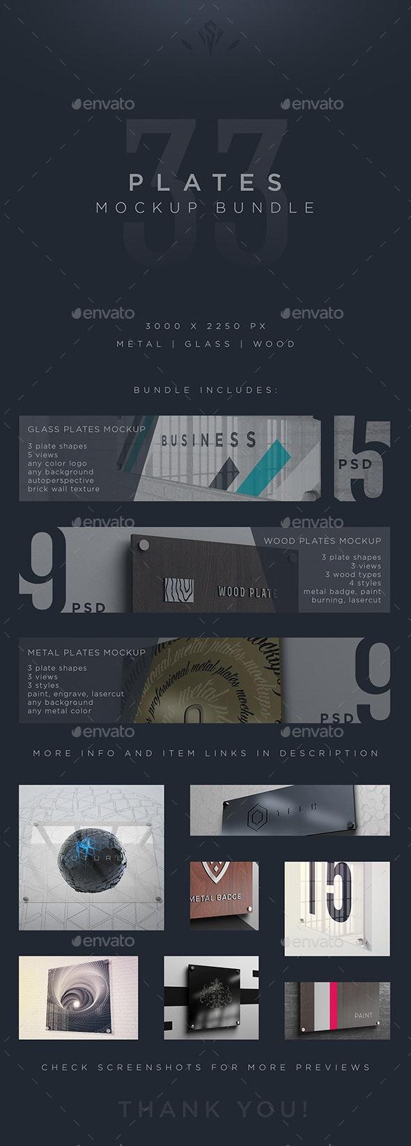 Plates Mockup Bundle - Logo Product Mock-Ups