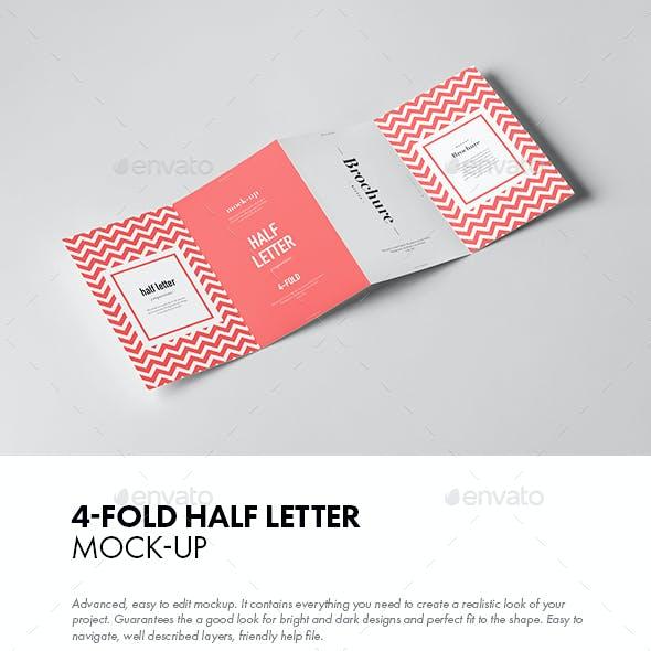 Four-Fold Half Letter Brochure Mock-up