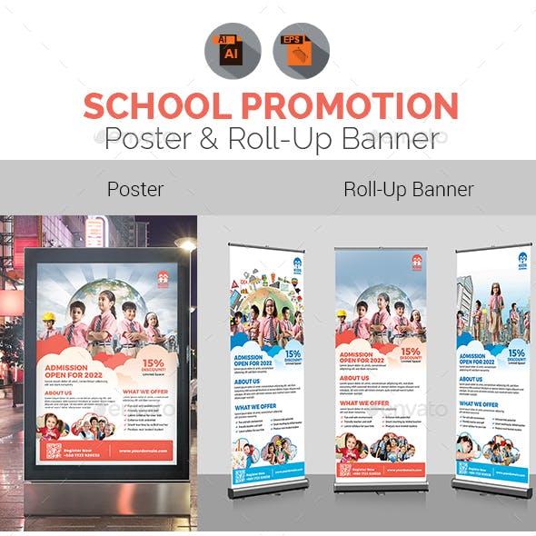 Junior School Promotional Poster & Roll-Up Banner Bundle