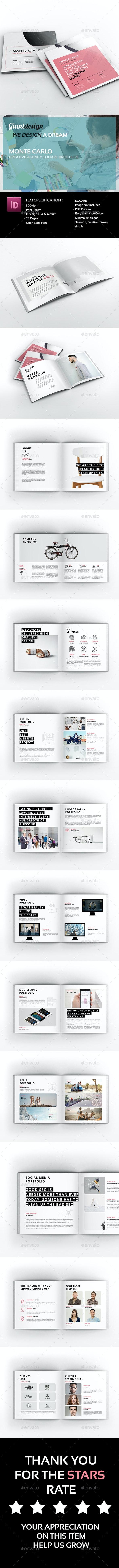 Monte Carlo Creative Agency Brochure - Portfolio Brochures