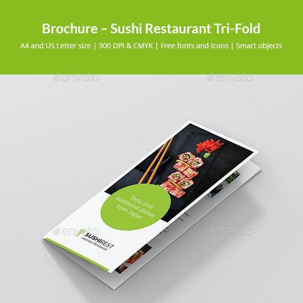 Brochure – Sushi Restaurant Tri-Fold