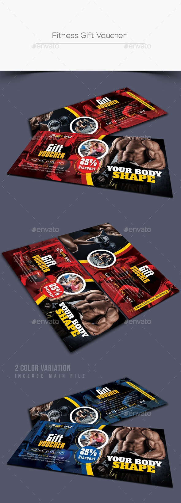 Fitness Gift Voucher - Loyalty Cards Cards & Invites