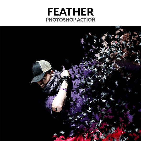 Feather Photoshop Action