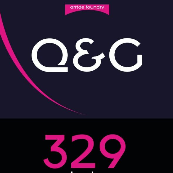 Q&G bold font