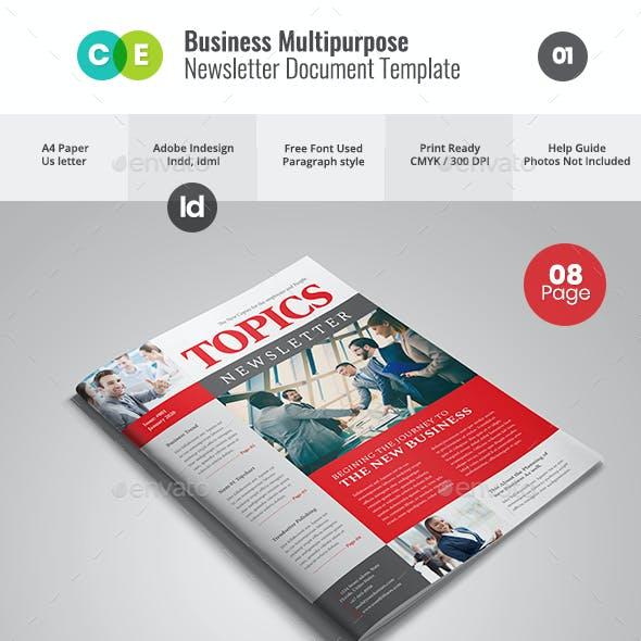 NEWSLETTER For Multipurpose Business V01