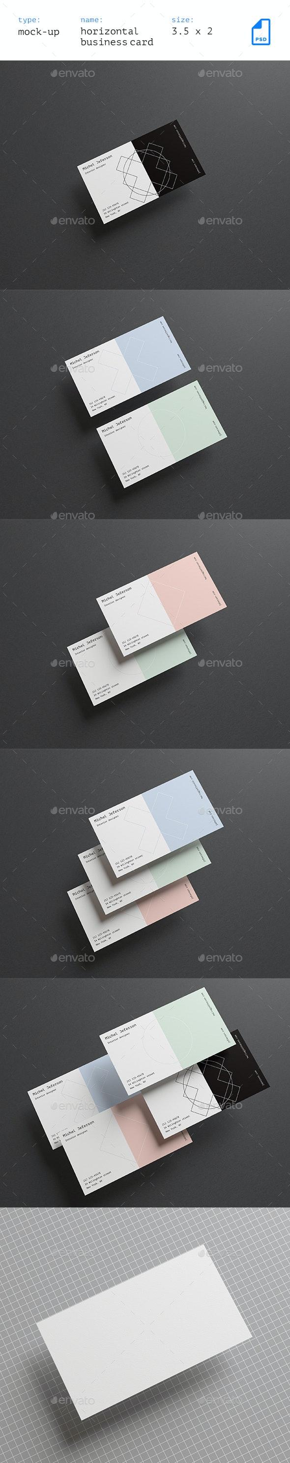 Horizontal Business Cards Mock-up Vol. 2 - Business Cards Print
