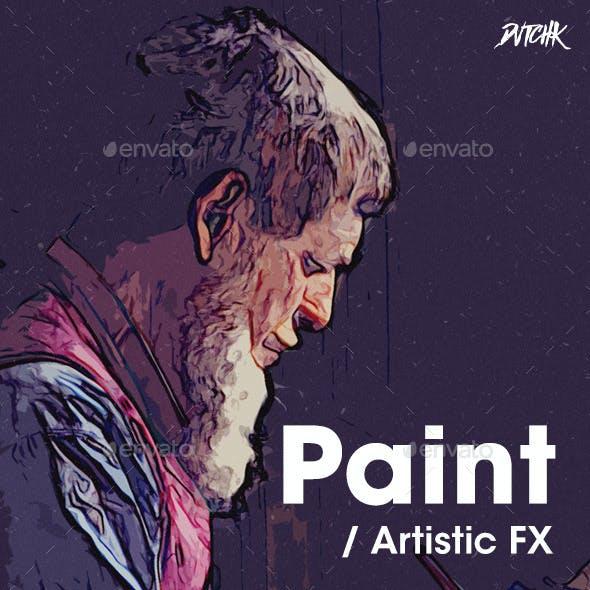 Paint - Artistic FX Photoshop Template