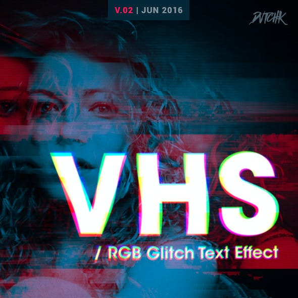 VHS - RGB Glitch Text Effect