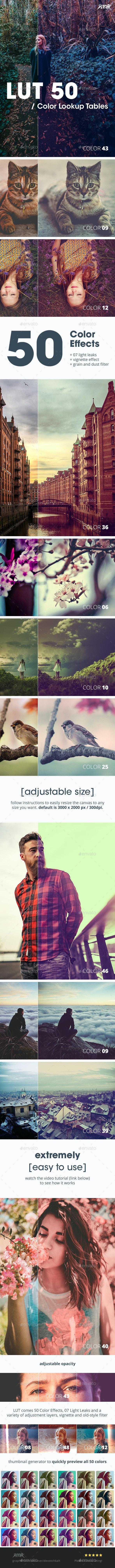 LUT 50 - Photoshop Color Filter FX - Miscellaneous Photo Templates