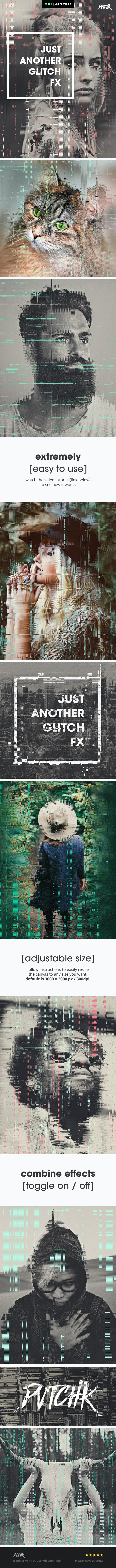 Just Another Glitch FX - Photo Effects Actions