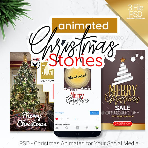 PSD - Instagram Animated Christmas Stories Promo