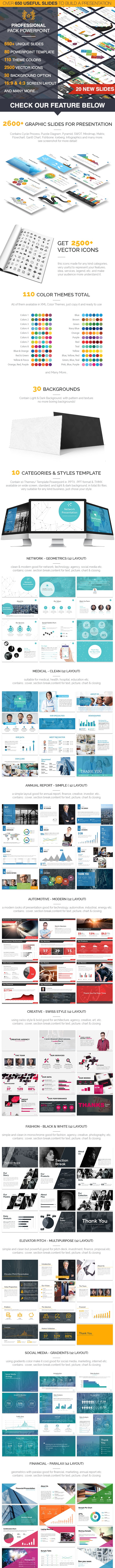 Powerpoint Template Professional Pack By Inspirasign Graphicriver