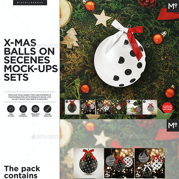 X-mas Ball / Bauble Mock-ups Set