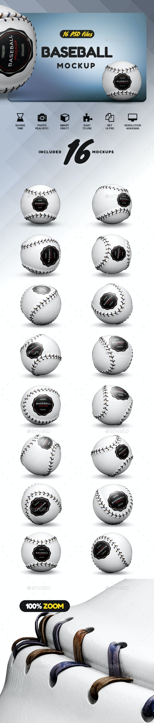 Baseball Mockup - Product Mock-Ups Graphics