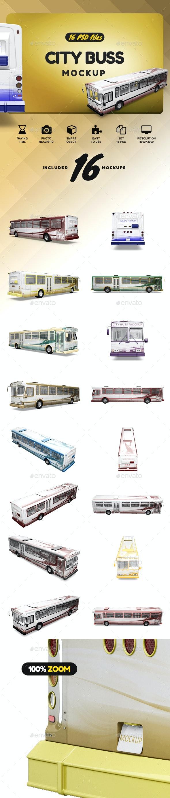 City Bus MockUp - Product Mock-Ups Graphics