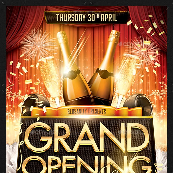Grand Opening Night Flyer