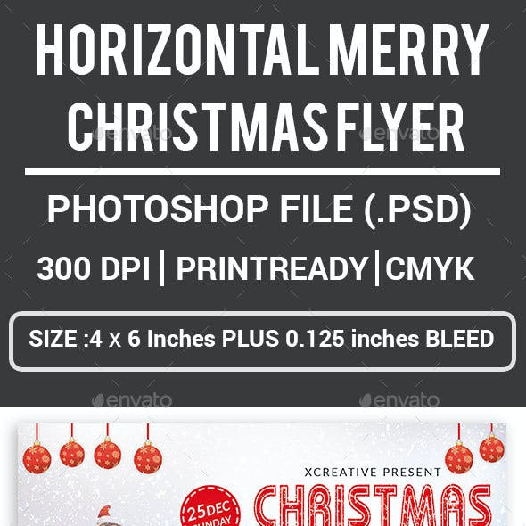 Horizontal Merry Christmas Flyer