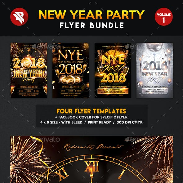 New Year Party Flyer Bundle Vol.1
