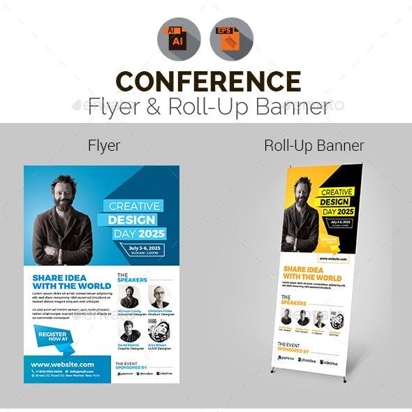 Conference Flyer & Roll-Up Banner Bundle