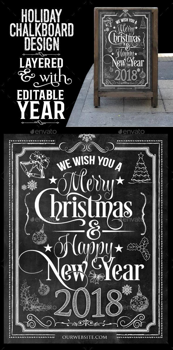 Holiday Chalkboard Design - Holidays Events