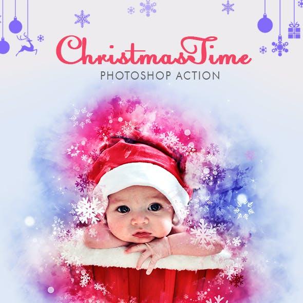 ChristmasTime Photoshop Action