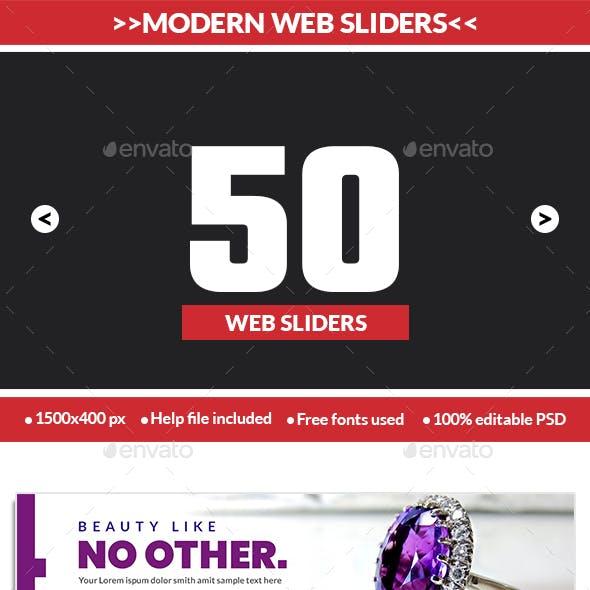 Multipurpose Web Sliders Pack - 50 Designs