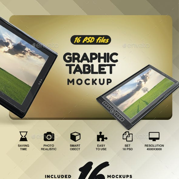 Graphic Tablet Mockup