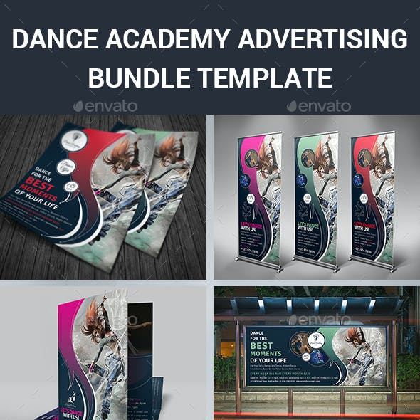 Dance Academy Advertising Bundle Template