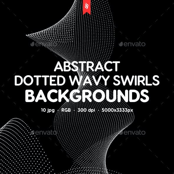 Abstract Dotted Wavy Swirls Backgrounds