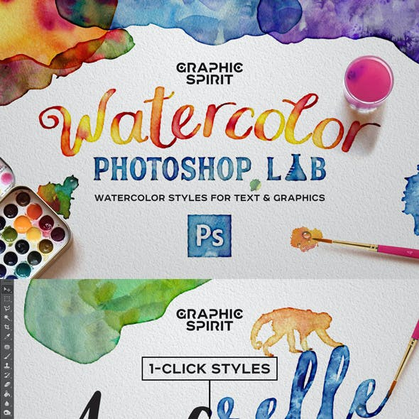 Watercolor Photoshop Styles + Extras