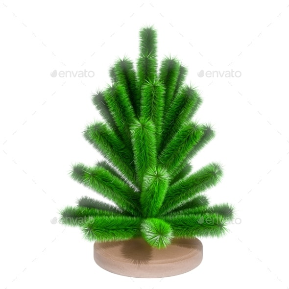 Small Christmas Tree. 3D Render - Objects 3D Renders