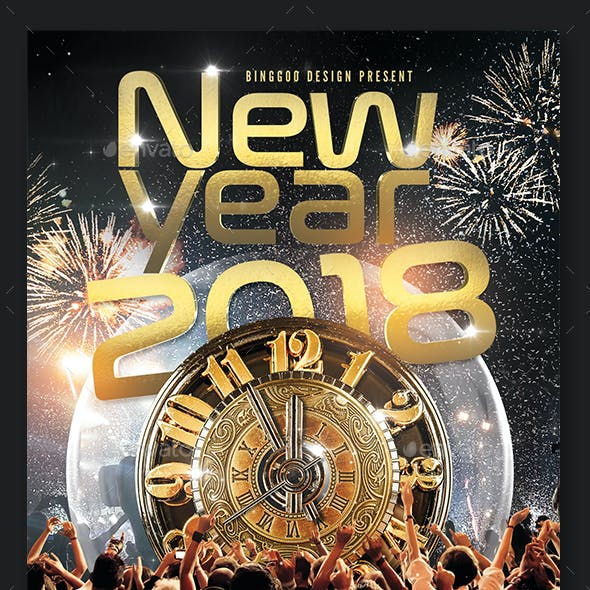 New Year 2018 Flyer