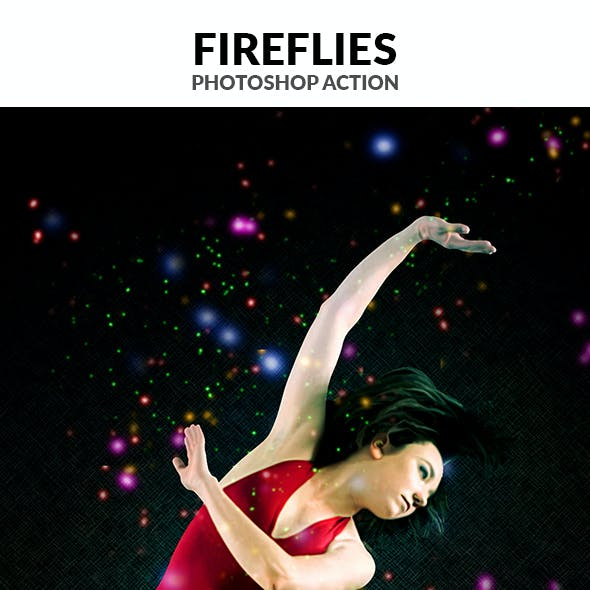 Fireflies Photoshop Action