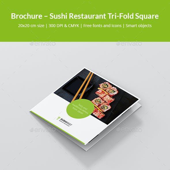 Brochure – Sushi Restaurant Tri-Fold Square
