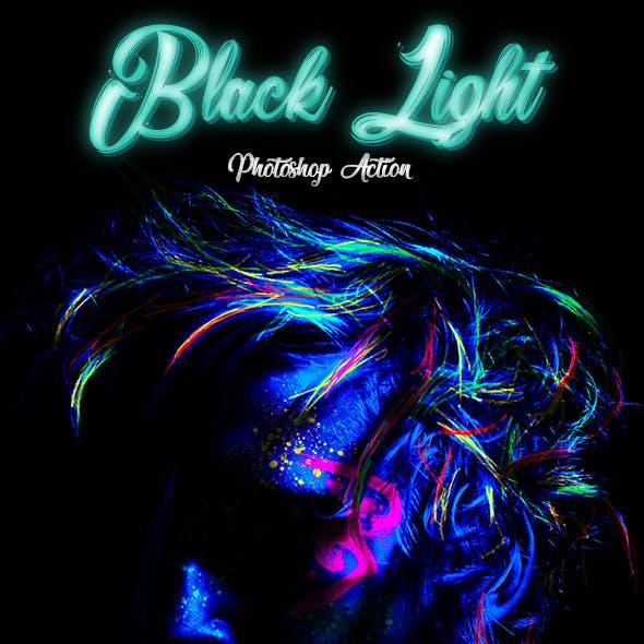 Black Light Photoshop Action
