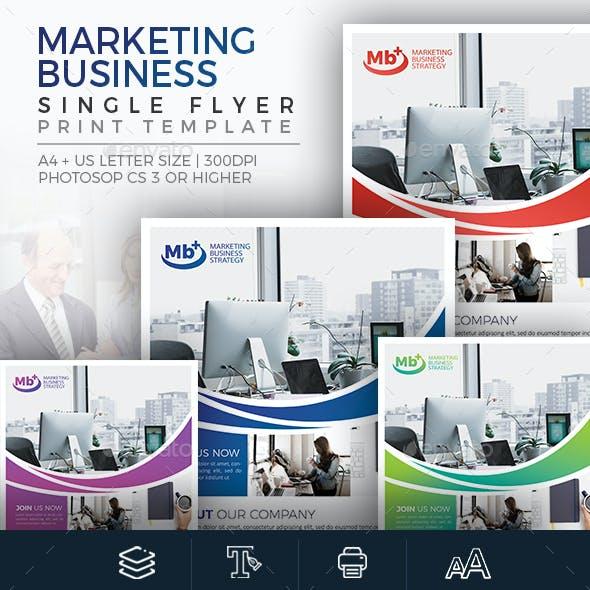 Marketing Business - Single Sided Flyer