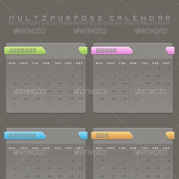 Multipurpose PSD Calendar