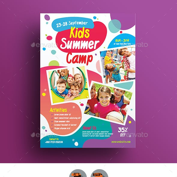 Kids Activities | Kids Camp Flyer