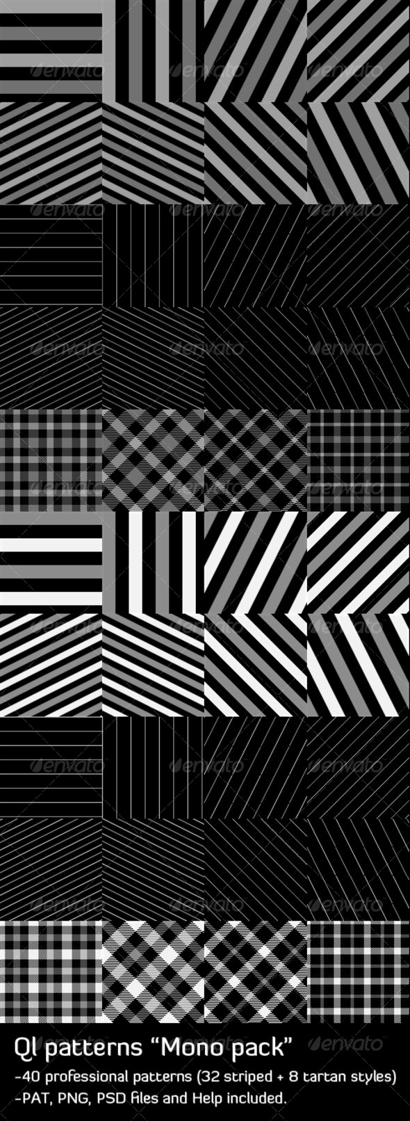 QL Patterns - Mono - Patterns Backgrounds