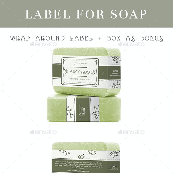 Wrap Around Label for Soap