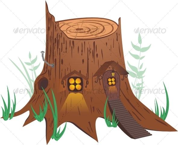 Little fairy-tale house - Nature Conceptual