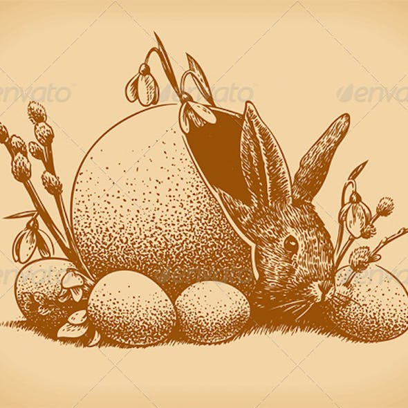 Easter Bunny Vintage Style