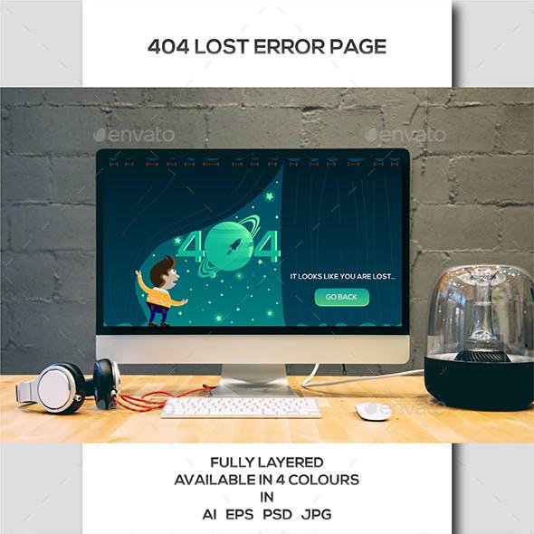 404 Lost Error Page