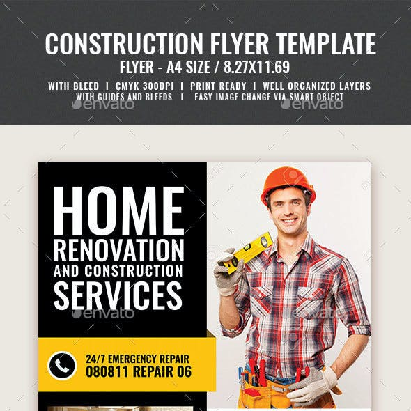 Construction and Building Flyer