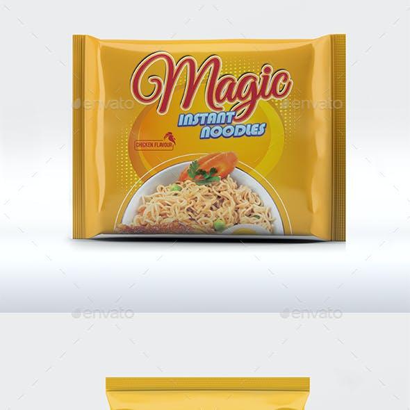Instant Noodles Packaging Mockup