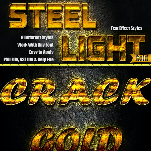 Steel Light Text Effect v.06