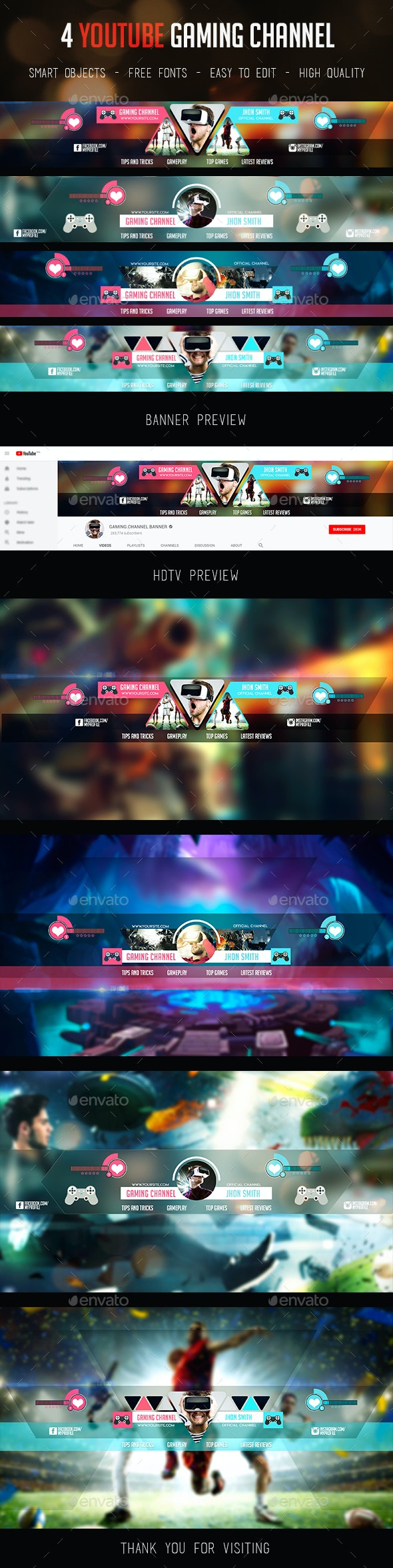 Gaming Channel Youtube Banner - YouTube Social Media