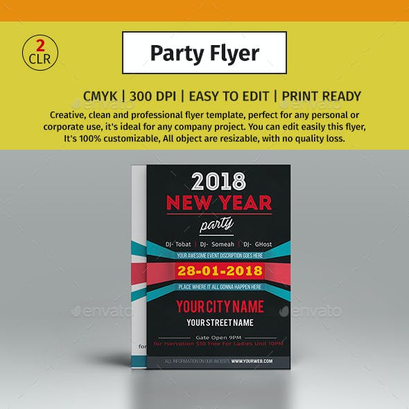 A4 New Year Party Flyer  #01