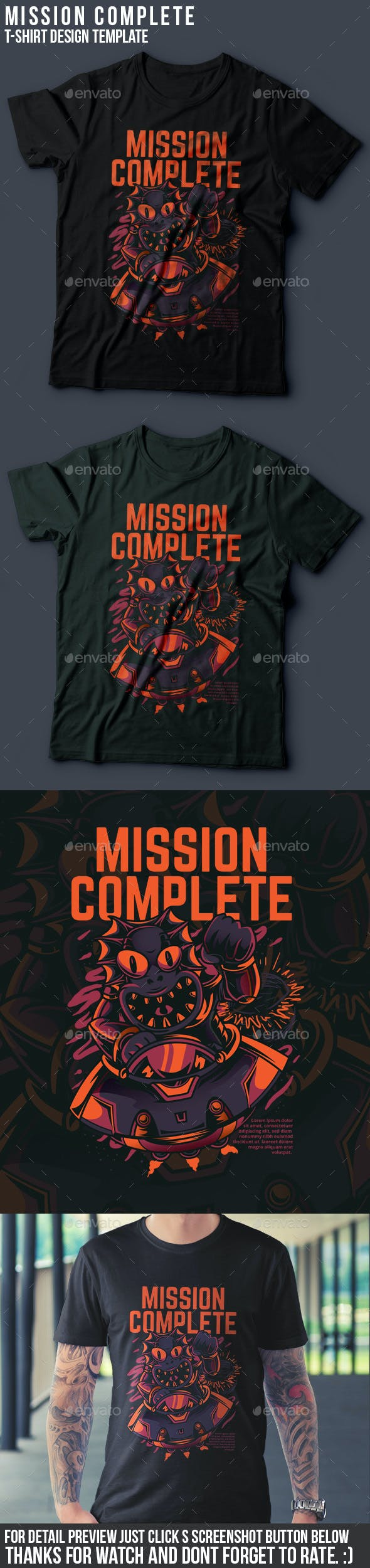 Mission Complete T-Shirt Design